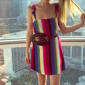 Rainbow Striped Dress 🌈